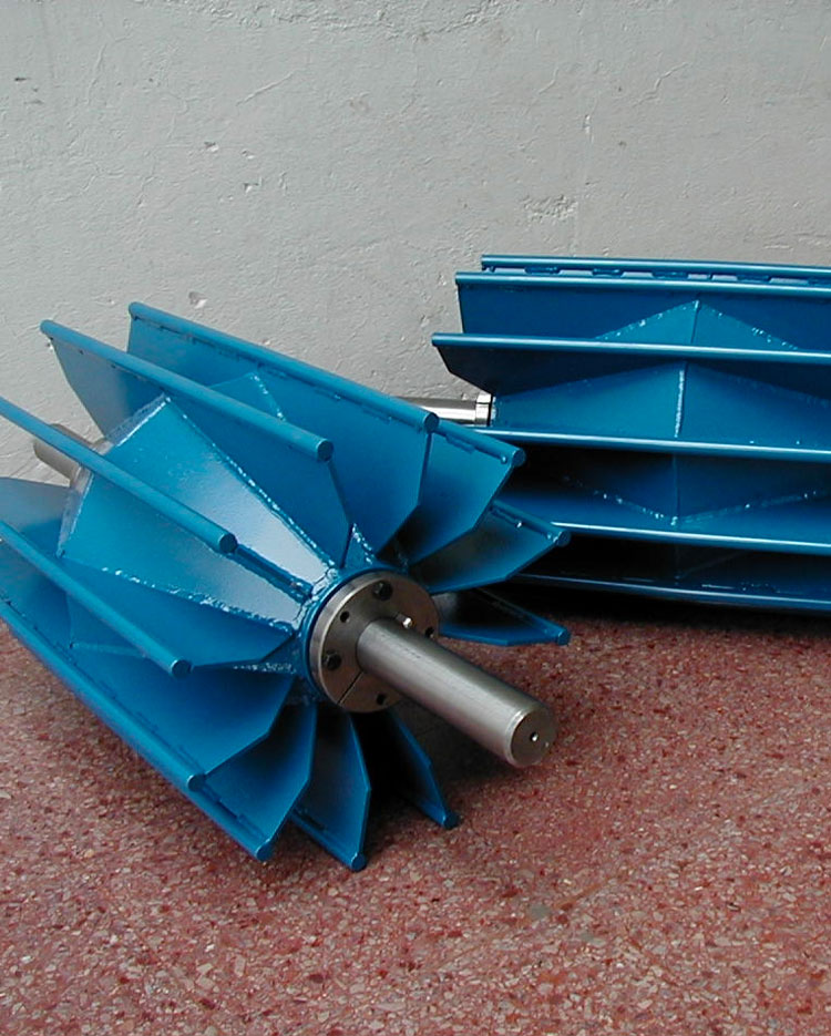 Fabricación de poleas / polines / camas de impacto